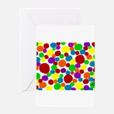 Rainbow dots art Greeting Cards