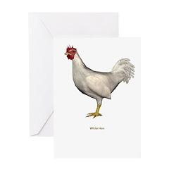 White Hen Greeting Card