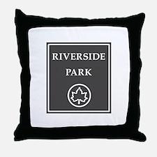 Riverside Park, NYC - USA Throw Pillow