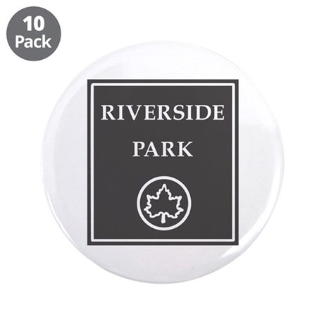 "Riverside Park, NYC - USA 3.5"" Button (10 pack)"