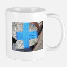 blue cross Mugs