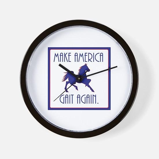 GAITED HORSE - Make America Gait Again Wall Clock