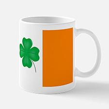 Irish Flag With Lucky Shamrock Mugs