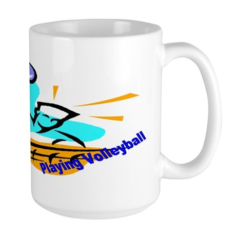I'd Rather Be Playing Volleyball Large Mug