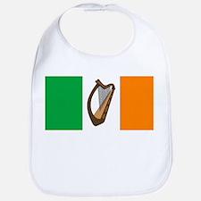 Irish Flag With Harp Bib