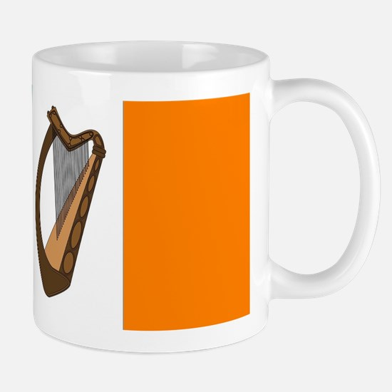 Irish Flag With Harp Mugs