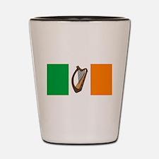 Irish Flag With Harp Shot Glass