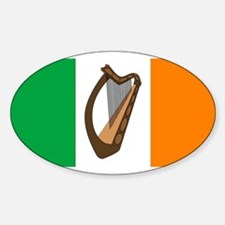 Irish Flag With Harp Decal