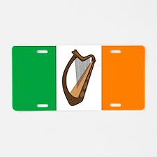 Irish Flag With Harp Aluminum License Plate