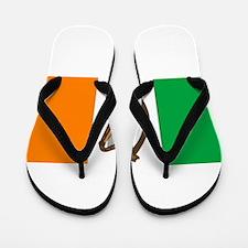 Irish Flag With Harp Flip Flops