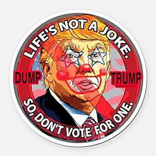Trump is a Clown Round Car Magnet
