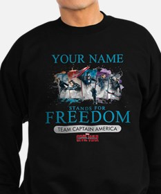 Team Cap Stands for Freedom Pers Sweatshirt