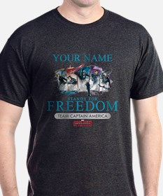 Team Cap Stands for Freedom Personali T-Shirt