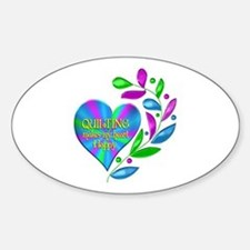 Quilting Happy Heart Decal