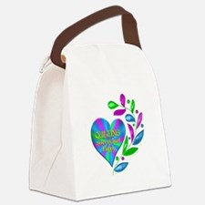 Quilting Happy Heart Canvas Lunch Bag