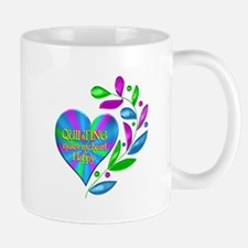 Quilting Happy Heart Mug