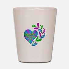 Quilting Happy Heart Shot Glass