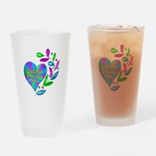 Quilting Happy Heart Drinking Glass