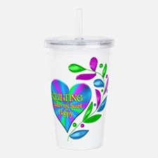 Quilting Happy Heart Acrylic Double-wall Tumbler