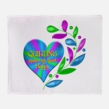 Quilting Happy Heart Throw Blanket