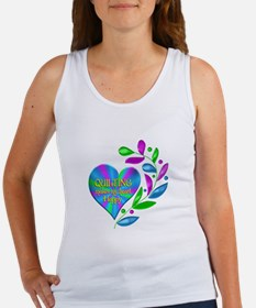 Quilting Happy Heart Women's Tank Top