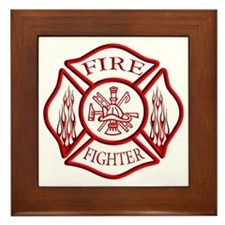 Firefighter Framed Tile