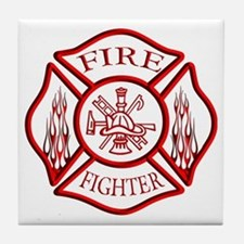 Firefighter Tile Coaster