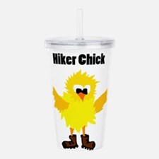 Funny Hiker Chick Acrylic Double-wall Tumbler