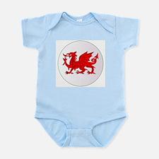 Welsh Dragon Button Body Suit