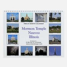 Mormon Temple Wall Calendar