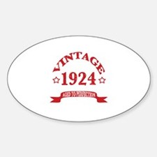Vintage 1924 Aged to Perfection Decal