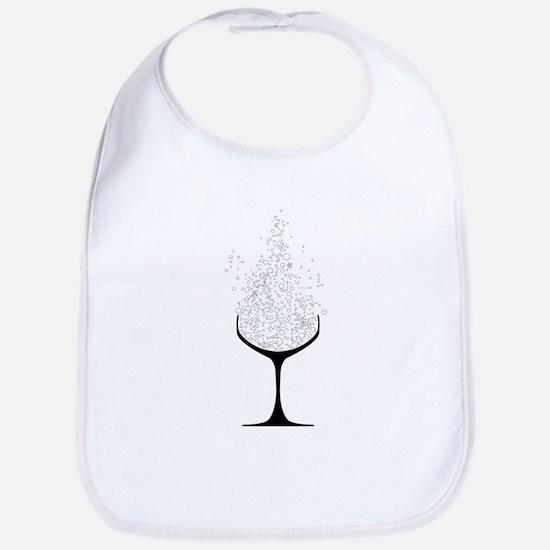 Champagne Glasses Bib