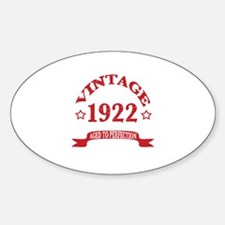 Vintage 1922 Aged to Perfection Decal