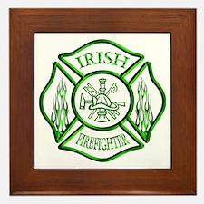 Irish Firefighter Framed Tile