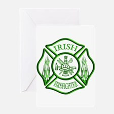 Irish Firefighter Greeting Card