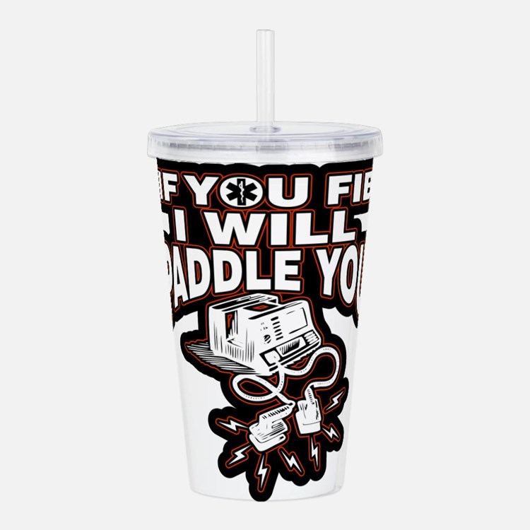 If You Fib I Will Padd Acrylic Double-wall Tumbler