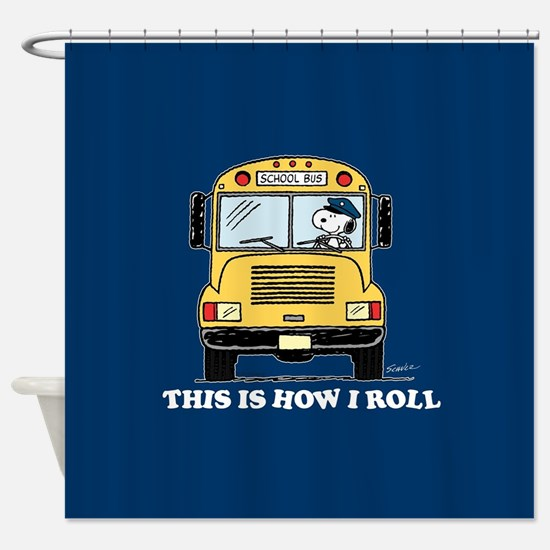 Snoopy - This Is How I Roll Shower Curtain