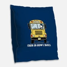 Snoopy - This Is How I Roll Burlap Throw Pillow