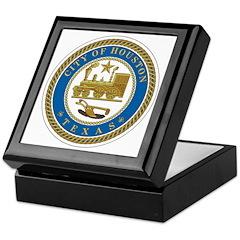 Houston City Seal Keepsake Box