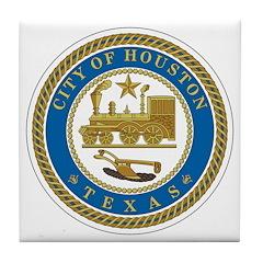 Houston City Seal Tile Coaster