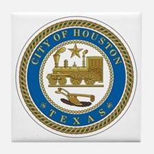 Houston City Seal Tile Coaster