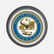 Houston City Seal Wall Clock