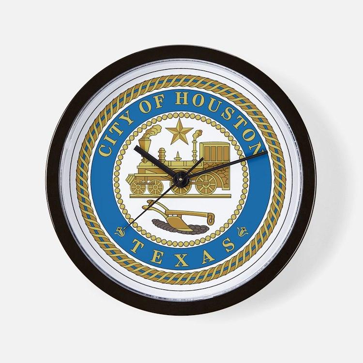 Houston City Seal Wall Clock