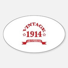 Vintage 1914 Aged to Perfection Decal