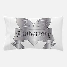 25th Anniversary Heart Pillow Case