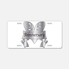 25th Anniversary Heart Aluminum License Plate