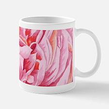 Elegant Pink Peony Flowers Closeup Illustrati Mugs
