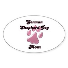 GSD Mom3 Oval Decal