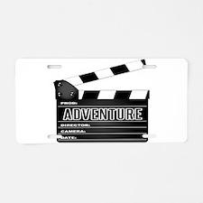 Adventure Movie Clapperboar Aluminum License Plate