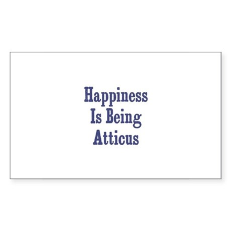 Happiness is being Atticus Rectangle Sticker